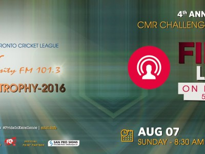 CMR 101.3 Challenge Trophy-2016   FINAL :   YOUNG STARS Vs GPS